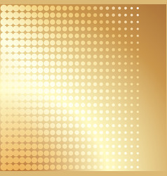 gold halftone cover brochure template vector image