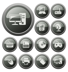 Hardware buttons vector image vector image