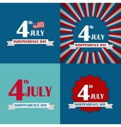 Independence day poster set vector