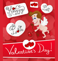 Love cupid valentine s day vector