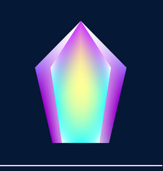 Magic glowing crystal vector