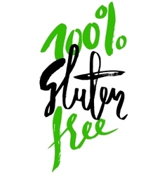 Modern brush lettering gluten free can be used vector