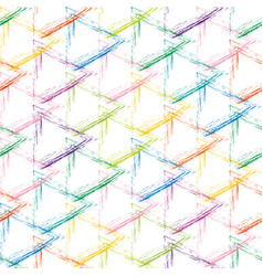 multicolor grunge grid on a white background vector image vector image