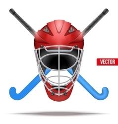 Outdoor Hockey Field symbol vector image vector image