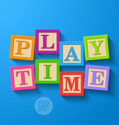 Play Time vector image vector image