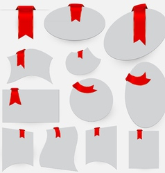 Red bookmarks vector image