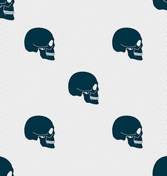 Skull sign seamless pattern with geometric texture vector