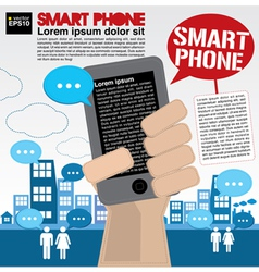 Smart phone communicated conceptual vector image