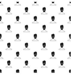 Spa facial clay mask pattern vector