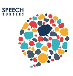 Speech bubbles communication vector