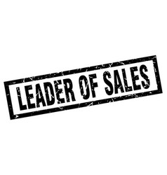 Square grunge black leader of sales stamp vector
