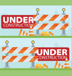 Website improvement under construction flat icon vector