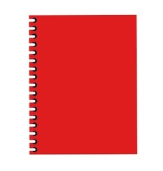 wired notebook icon vector image vector image