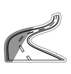 Highway road street vector