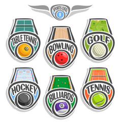 Set sports logo vector