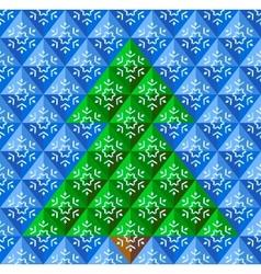 Geometrical christmas tree snowflake background vector