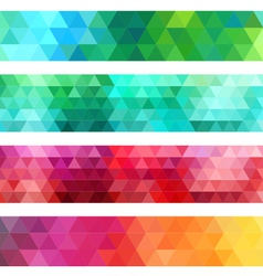 Abstract geometric banner background set vector