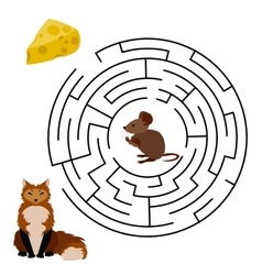 Maze labyrinth education game vector