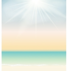 Summer time sea and sky background vector