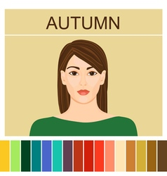 Stock autumn type of female appearance vector