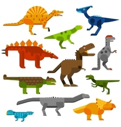 Cretaceous dinosaurs ground cartoon vector image