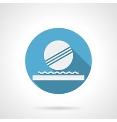 Floating ball fountain round flat icon vector