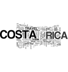 a costa rican fairytale beauty and the beach text vector image vector image