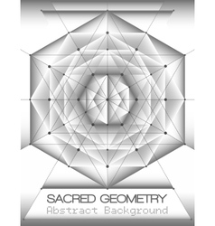 Abstract brochure template with sacred geometry vector