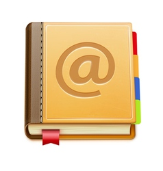 Address book icon vector
