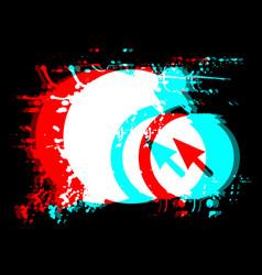 Artistic cursor vector