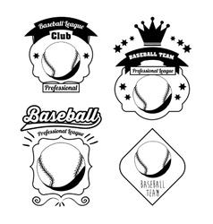 baseball league design vector image vector image