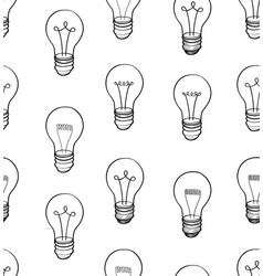 bulb isolated over white background electric lamp vector image vector image
