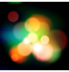 Colorful background with defocused lights vector