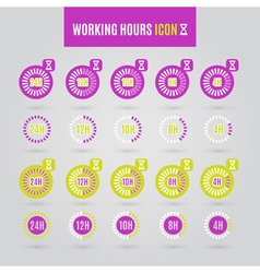 Colorful working hours icon vector image vector image