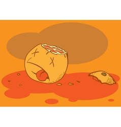 dead orange vector image vector image
