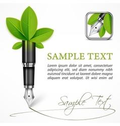 Ecology concept fountain vector image