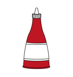 Flat line sauce design vector
