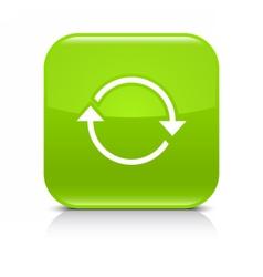 Green arrow repeat reload refresh rotation sign vector