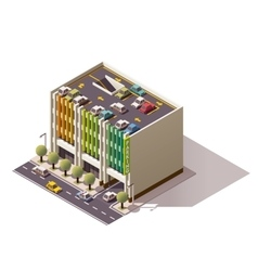 Isometric car park vector