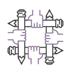 linear designer concept logo vector image vector image