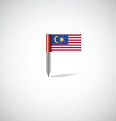 Malaysia flag pin vector image