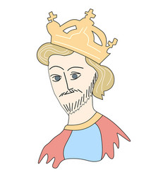 medieval king vector image vector image