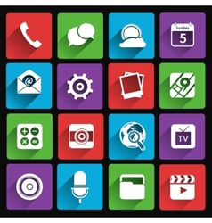 Mobile applications icons flat vector
