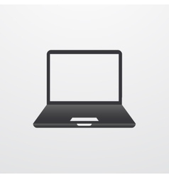 modern laptop icon isolated on white vector image