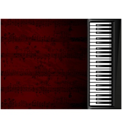 musical background with piano vector image vector image