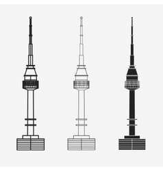 Namsan tower in Seoul vector image