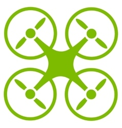 Nanocopter icon from Business Bicolor Set vector image