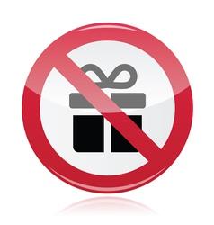 No presents red warning signs - vector image vector image