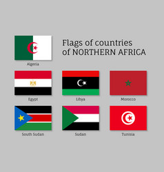 Northern africa flag set vector