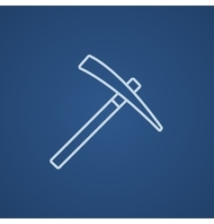 Pickax line icon vector
